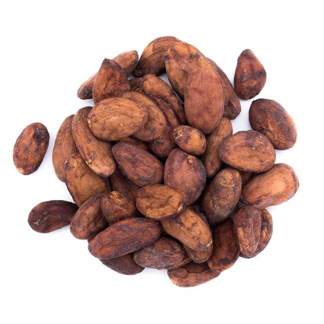 Divers Fèves de cacao crues du Pérou