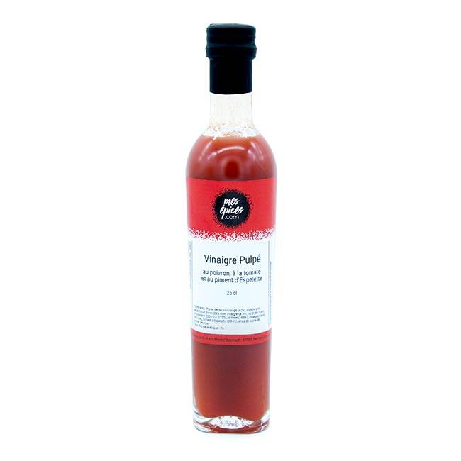 Divers Vinaigre à la pulpe de poivron, tomate et piment d'Espelette - 25cl