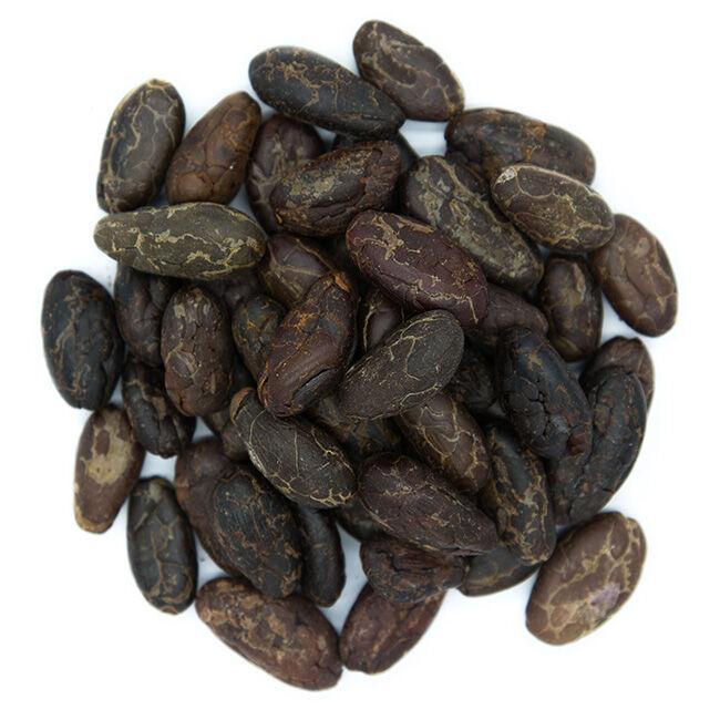 Divers Fèves de cacao torréfiées de Colombie