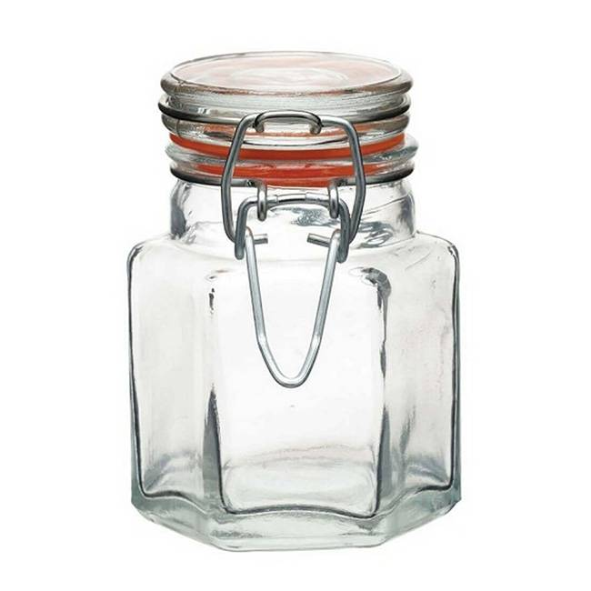 Kitchen Craft Bocal à épices en verre hexagonal 100 ml