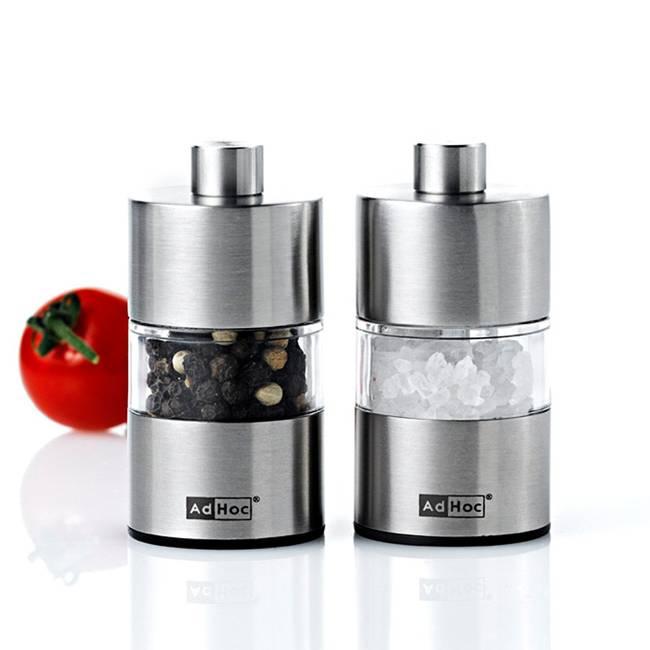 Ad Hoc Ensemble de mini moulins sel et poivre Minimill