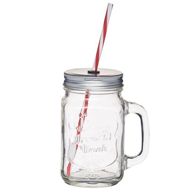 Kitchen Craft Tasse vintage Mason Jar en verre