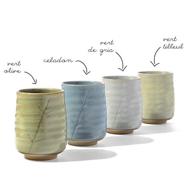 George Cannon Tasse en céramique - Bambou - 300mL - Coloris multiples
