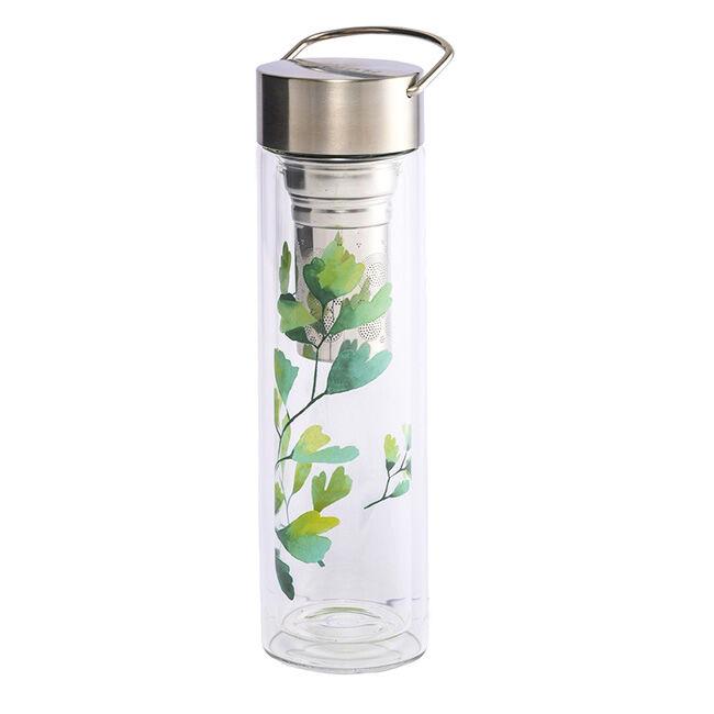 Eigenart Thermos en verre double paroi avec infuseur Flowtea Trees Gingko - 40 cl