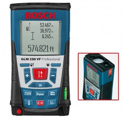BOSCH Pack Télémètre Laser Glm 250 Vf Bosch Professional + Trépied Photo Bt 150