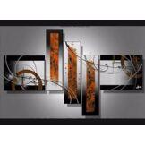 Tableau contemporain Orange et Noir