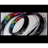 Tableau panoramique abstrait coloré