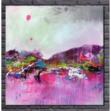EJRAC Tableau peinture voilet fushia colors