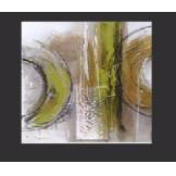EJRAC Tableau abstrait design Vert Metal