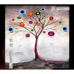 EJRAC Tableau design arbre féérique