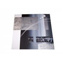 EJRAC Tableau abstrait carré métal n°3