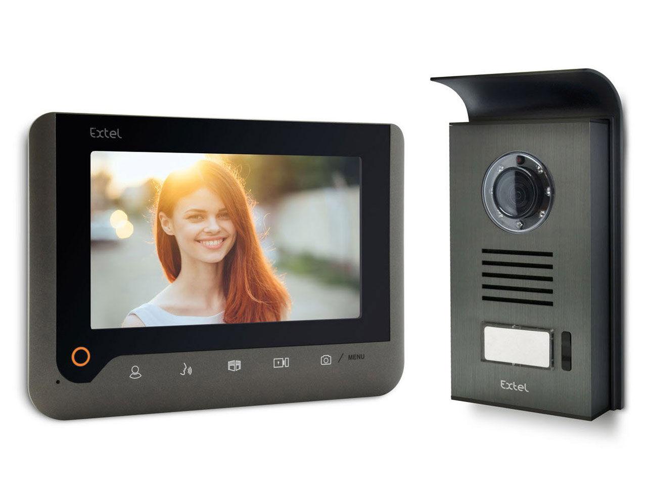 EXTEL Visiophone, interphone Extel NOVA 7' couleur mémoire de passage GRIS