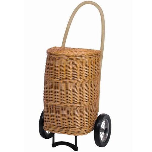 ANDERSEN Chariot de Courses haute contenance 77 litres osier