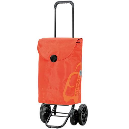 ANDERSEN Chariot de Courses Orange 49L 4 roues Appui Stable