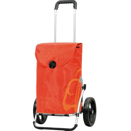 ANDERSEN Chariot de Courses Orange 49L Grandes Roues multifonctions