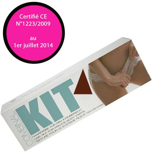 COMBINAL-Cosmétiques Kit coloration poils pubis, torse et moustaches Brun