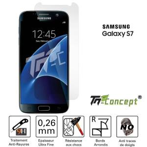 Samsung Galaxy S7 - Vitre de Protection Crystal - TM Concept