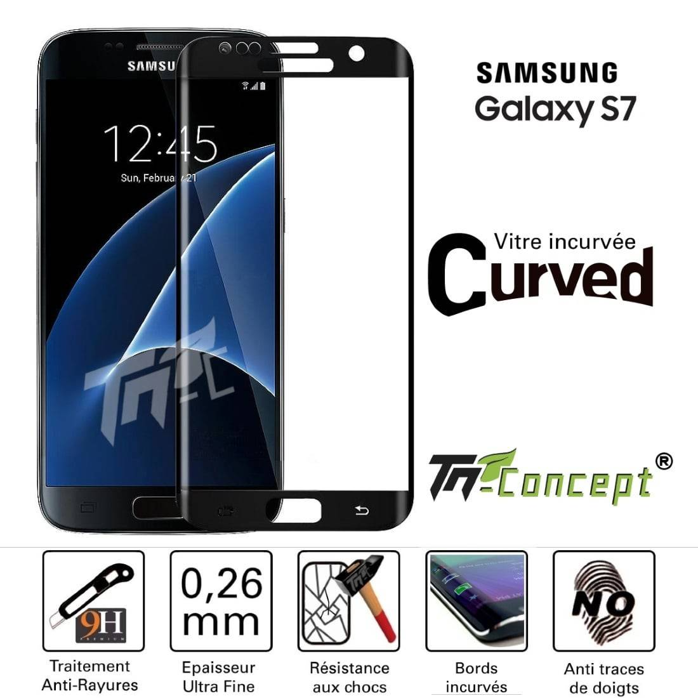 Samsung Galaxy S7 - Vitre de Protection 3D Curved - TM Concept