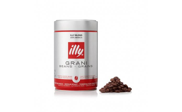 Illy café en grains torréfaction traditionnelle