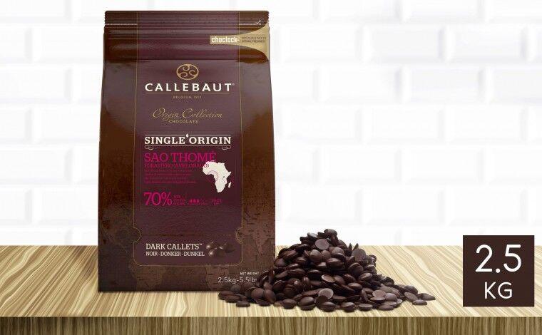 Callebaut Chocolat noir Sao Thomé 70% pistoles 2,5 kg