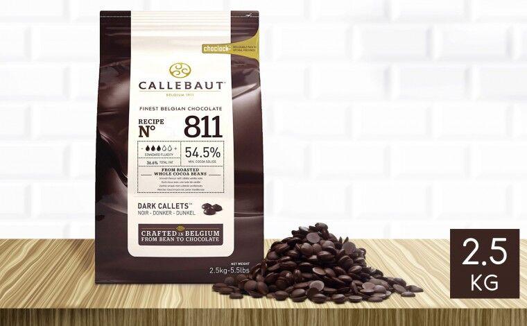 Callebaut Chocolat noir 811 pistoles 2,5 kg