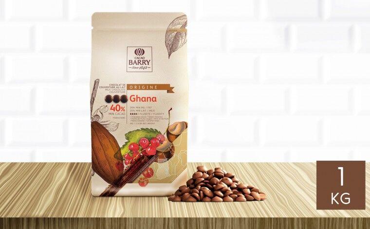 Cacao Barry Chocolat au lait Ghana 40% pistoles 1 kg