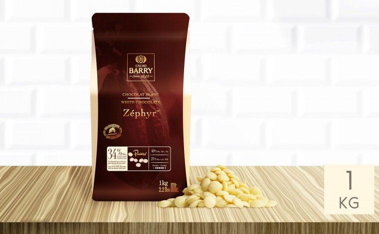 Cacao Barry Chocolat blanc Zéphyr 34% pistoles 1 kg