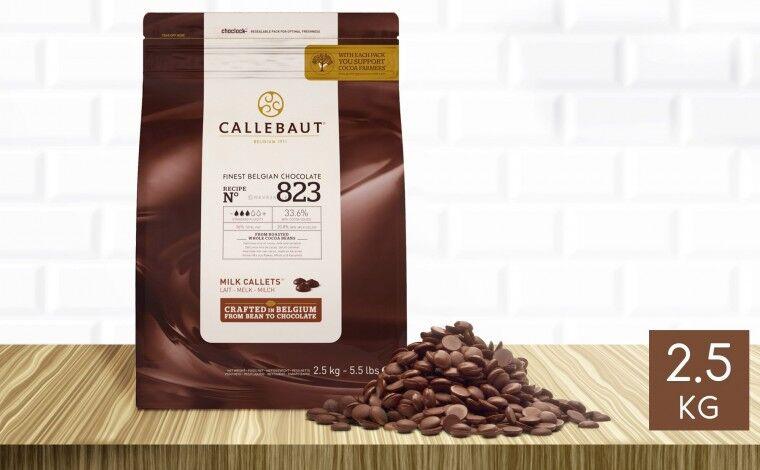 Callebaut Chocolat au lait 823 pistoles 2,5 kg