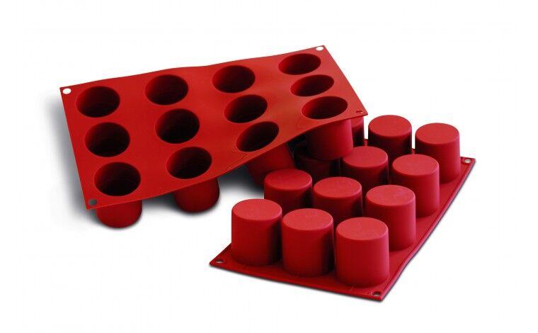 Silikomart Moule silicone 12 darioles-cylindres