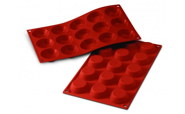 Silikomart Moule silicone 15 tartelettes