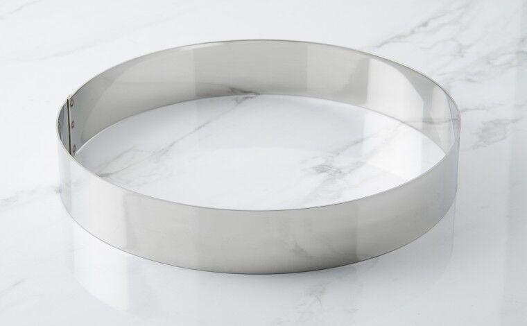 Mallard ferrière Cercle inox à mousse - Diamètre 24 cm