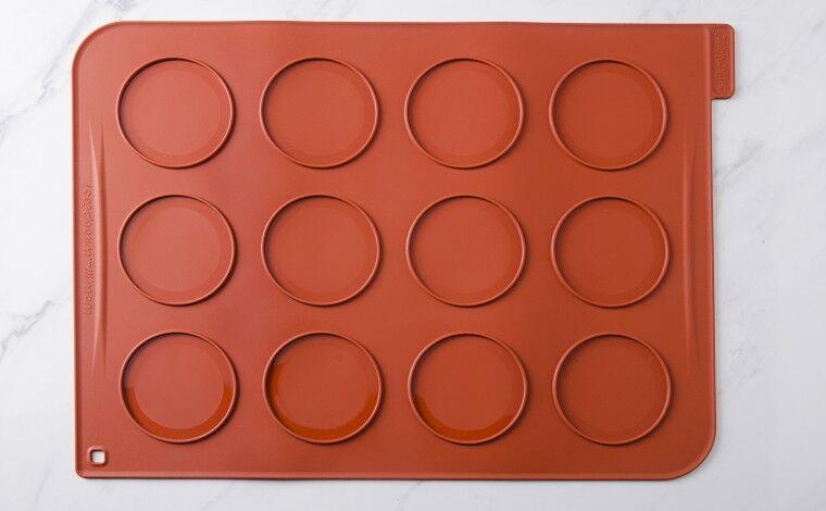 Silikomart Toile de cuisson silicone 12 grands macarons