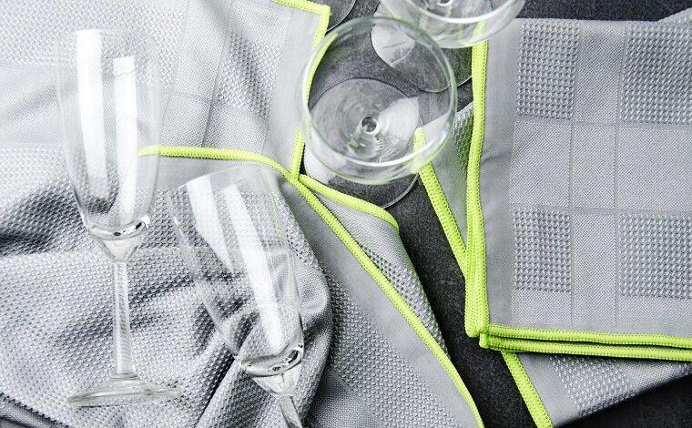 Colichef Essuie-verres Microfibre Delta - Lot de 2 essuies