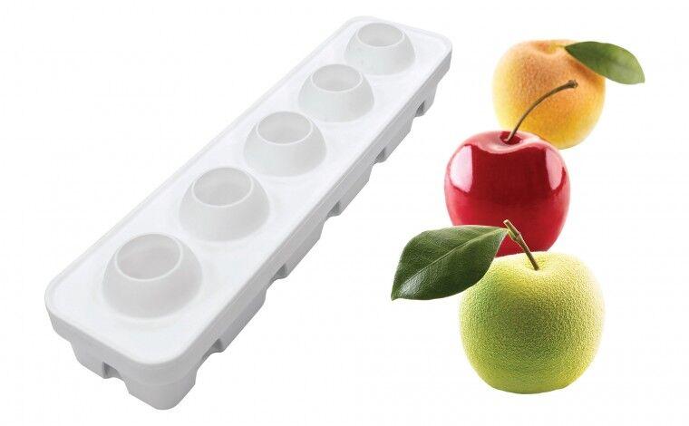 Silikomart Moule silicone fruits pomme, cerise et pêche Silikomart professionnel