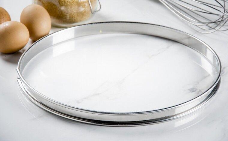 Mallard ferrière Cercle inox à tarte - Diamètre 28 cm