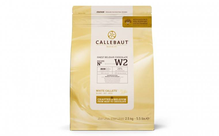 Callebaut Chocolat blanc W2 pistoles - sachet 2,5 kg