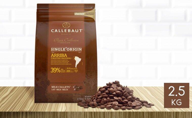 Callebaut Chocolat au lait Arriba 39% pistoles 2,5 kg