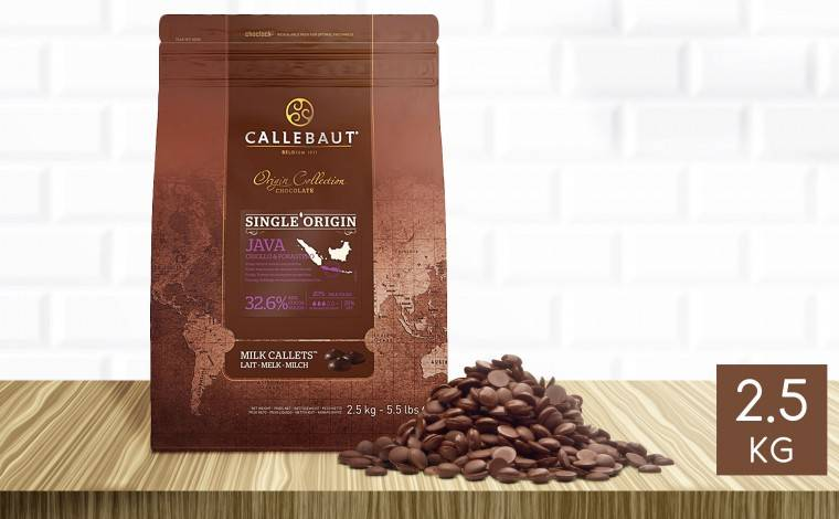 Callebaut Chocolat au lait Java 32,6% pistoles 2,5 kg
