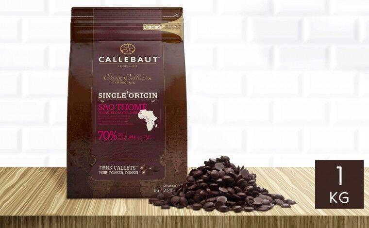 Callebaut Chocolat noir Sao Thomé 70% pistoles 1 kg