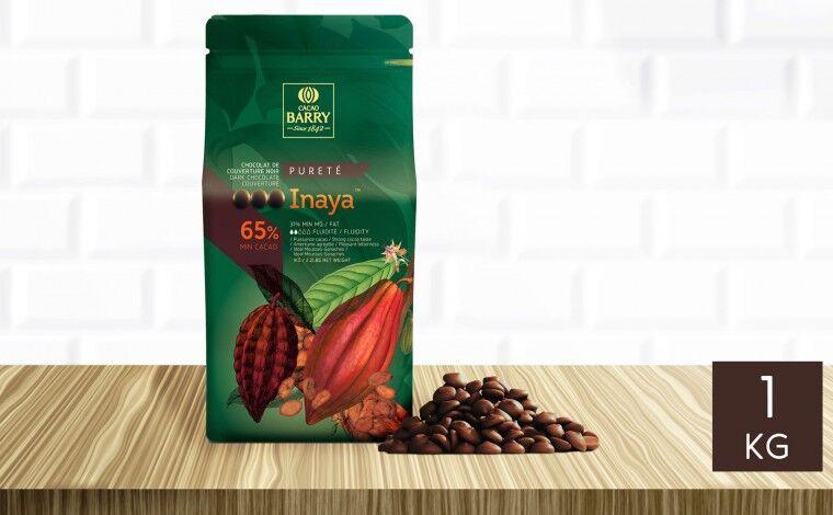 Cacao Barry Chocolat noir Inaya 65% pistoles 1 kg