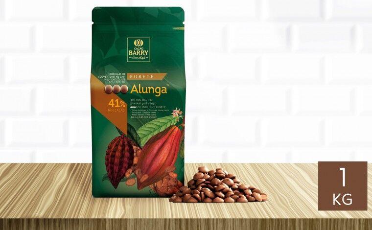Cacao Barry Chocolat au lait Alunga 41% pistoles 1 kg
