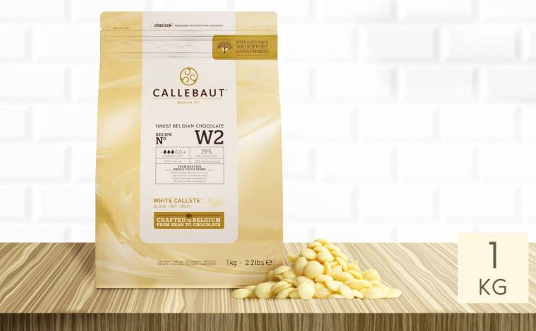 Callebaut Chocolat blanc W2 pistoles - sachet 1 kg