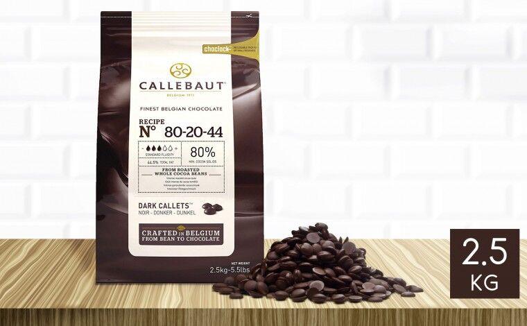 Callebaut Chocolat noir 80-20-44 pistoles 2,5 kg