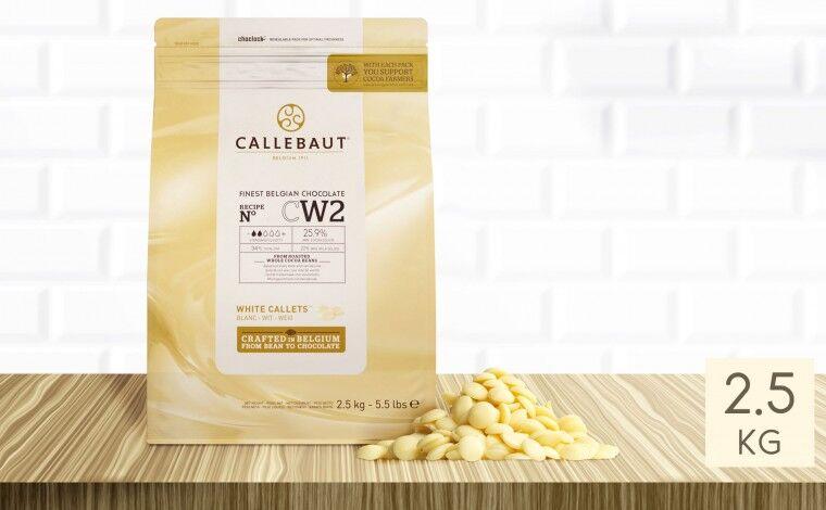 Callebaut Chocolat blanc CW2 pistoles 2,5 kg