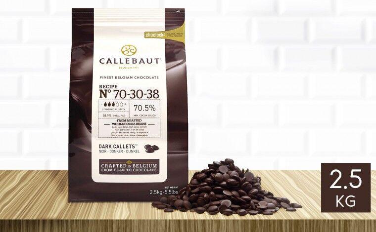 Callebaut Chocolat noir 70-30-38 pistoles 2,5 kg