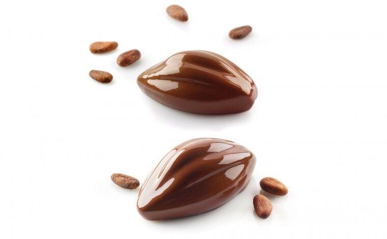 Silikomart Moule silicone 6 cabosses cacao