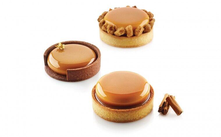 Silikomart Kit 6 Moules tarte ring - diamètre 8 cm