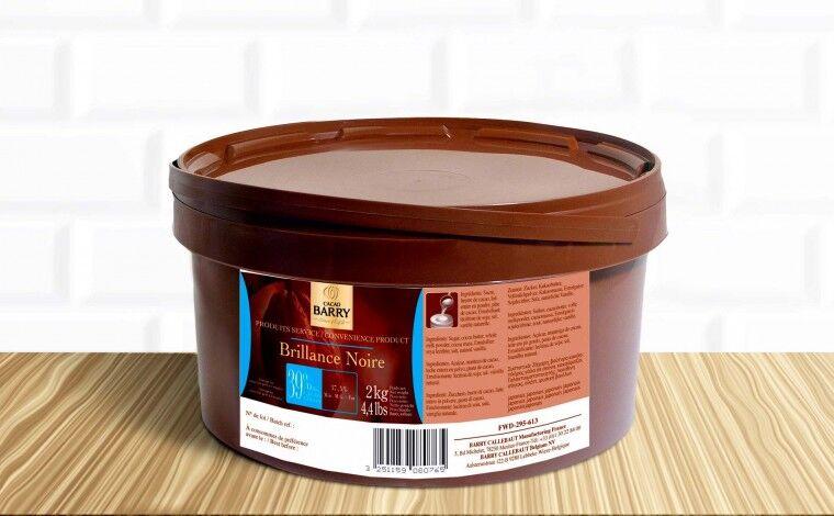 Cacao Barry Glaçage au chocolat Brillance noire 2 kg