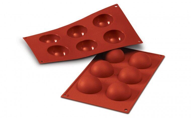 Silikomart Moule silicone 6 demi sphères Ø 6cm