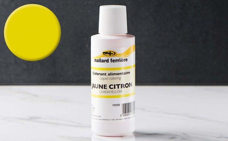 Mallard ferrière Colorant alimentaire liquide Jaune citron 100ml